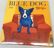 2018 George Rodrigue Blue Dog Wall Calendar. New Sealed