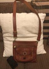 Diesel Tan Leather Messenger Bag