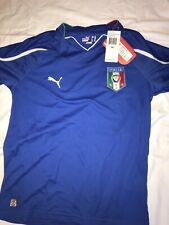 Italy Puma 2010 World Cup YL Home Blue Jersey New with Tags