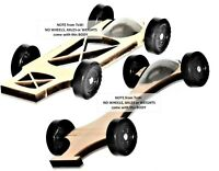 2 Pinewood Derby Car BODY'S Fast Speed Canopy Hammerhead & Canopy Xbody winners