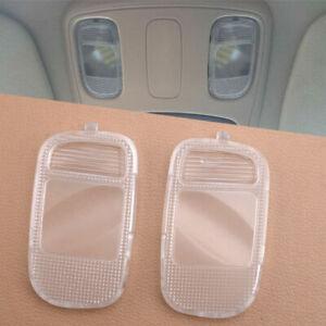 Pair Fit Dodge Ram 1500 2002-2010 Overhead Console Dome Light Lens Map Lamp Lens