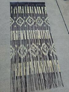 "BOHO Hippie Southwestern Style Hanging Wood Bead Curtain String Door 77"" X 35"""