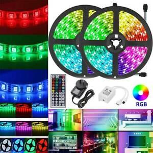 RGB LED Strip Lights IP65 Waterproof 5050 5M 15M 20M 44Key IR Controller Adapter