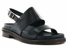 Clarks Ladies Zena Mae Black Leather Casual Sandals Size UK 4/37
