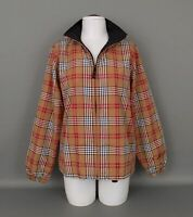 New CATALINA Women's Sz.SMALL (4-6) Full Zip Lined Tan Plaid Lightweight Jacket