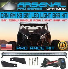 "No.1 Can-Am X3 50"" 5D Single Row 250W LED Light Bar Kit Can-am Maverick X3 16+"