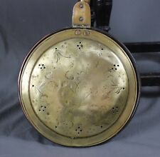 Early 19 Century Brass and Copper Warming Pan
