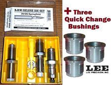 Lee DELUXE 3-Die Set  30-06 Springfield  + 3 Quick Change Bushings 90600+90615