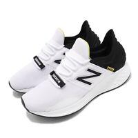 New Balance Fresh Foam ROAV D White Black Yellow Mens Running Shoes MROAVLWD