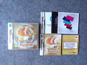 Nintendo DS Pokemon Heart Gold Game EMPTY CASE, Manual & Leaflets (No Game!)