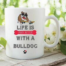 Novelty Funny Bulldog Mug Printed Ceramic Cups Dog Lovers Gift Present WSDMUG478