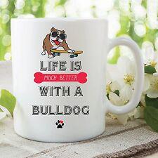 Artículo Divertido Bulldog Taza Impresa Cerámica Vasos Amantes De Los Perros