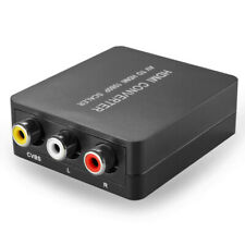 RCA Composite AV CVBS to HDMI Converter Audio Video Adapter Box Upscaler 1080P