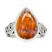 Cacoxenite 925 Sterling Silver Ring Jewelry s.9 RR175408