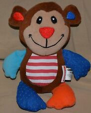 "7.5"" Scholastic For Baby Plush Dolls Toys Rattle Rattling Bear Monkey Multicolor"