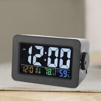 Digital Reloj Despertador Radio Termómetro Higrómetro temperatura humedad Set EU