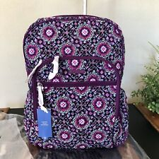 Vera Bradley Campus Tech Backpack Lilac Medallion Laptop