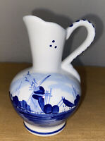"""VTG Delft Blue Pitcher Hand Painted Made In Holland Blue White 4.25"""" - Creamer"""