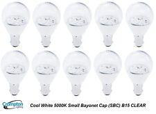 LED 4W Light Globes / Bulbs Small Bayonet Cap SBC B15 Cool White 5000K CLEAR