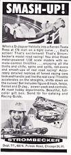 1962 STROMBECKER MODEL ROAD RACING  ~  NICE ORIGINAL SMALLER PRINT AD