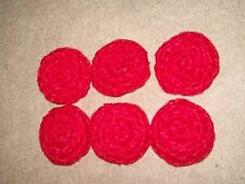 6 RED -  NYLON NET POT SCRUBBIES