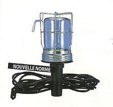 BALADEUSE METALLIQUE LAMPE DE TRAVAIL PORTABLE TRAVAUX CHANTIER 60W 831P070