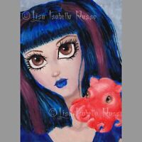ACEO Mermaid Octopus ART Gothic Latina Lisabella Russo Limited Edition Print LE
