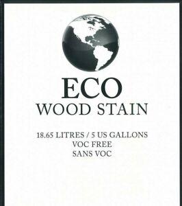 Eco Wood Stain, 5 Gallon, Weathered Wood, VOC Free, Eco Friendly, Eco Safe