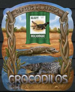 Mozambique Reptiles Stamps 2015 MNH Crocodiles Nile Crocodile Fauna 1v S/S III