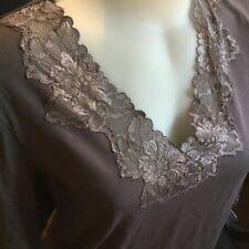 Lace V-Neckline Long Sleeve Tops & Blouses for Women