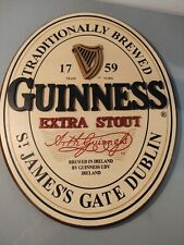 Guinness Beer Sign 18� Wooden Official Merchandise Extra Stout Ireland