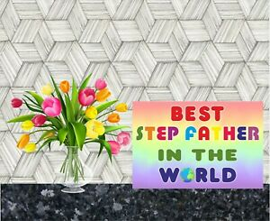 Card For Step Father - Best In The World - Novelty Greetings Card - Fathers Day