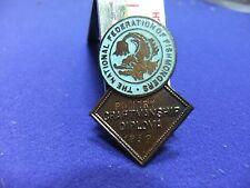 vtg badge federation fishmongers 1952 poultry craftmanship diploma award fishing