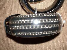 BNWT Free Fusion black plastic bangles x 2 chain design gothic punk in EC RRP$40