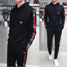 Men TrackSuit Casual Sport Jacket Top Sweater Suit Set Trousers Pants Activewear