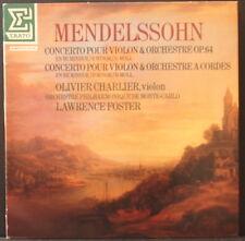ERATO NUM 75096 MENDELSSOHN - VIOLIN CONCERTOS OLIVIER CHARLIER F. FOSTER FRENCH