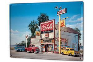 Tin Sign XXL World Tour G. Huber gas station America