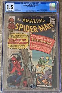 The Amazing Spider-Man #18 (Nov 1964, Marvel Comics) CGC 1.5 FR/GD | Ned Leeds