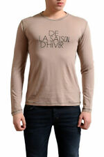 Gianfranco Ferre Men's Beige Wool Silk Long Sleeve T-Shirt US XS S XL