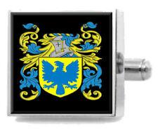 Whittall Inglaterra Familia Crest apellidos Escudo de Armas Clip de Corbata Grabado En Bolsa