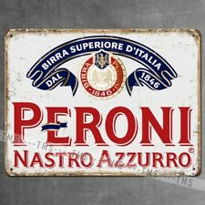 PERONI VINTAGE BEER KITCHEN PUB BAR METAL SIGN TIN RETRO PLAQUE GARAGE MAN CAVE