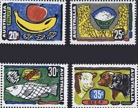 Australia 1972 MNH 20c 25c 30c 35c Stamp Set of 4 Primary Industries Caricatures