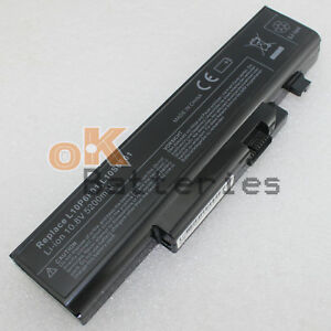 6 Cell Battery for Lenovo ideapad Y470 Y570 Y470A Y470N Y470P Y471 Y570A Y570D