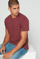 New Men's Size Banana Republic Maroon Soft Wash Crew Neck T-Shirt NWOT - XL