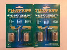 """2sets - 1"""" Aanraku Twofers 2 bit 100/120 Regular Grit Stained Glass Grinder Bits"""