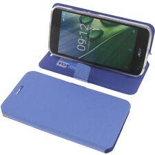 Tasche für Acer Liquid Zest Plus Book-Style Schutz Hülle Handytasche Buch Blau
