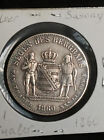 SAXONY SAXE-ALBERTINE 1860 THALER SILVER COIN RARE TYPE GERMANY GERMAN STATE