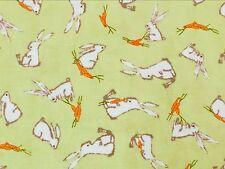 RPFMO105D MODA Cute Retro Bunny Rabbits Bunnies Carrots Cotton Quilt Fabric