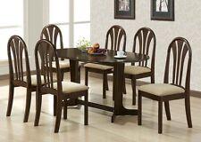 Modern Contemporary Stylish Espresso Finish Dining Room Table Set 7pc Dining Set