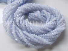 """13"""" strand natural blue CHALCEDONY faceted gem stone rondelle beads 3mm"""